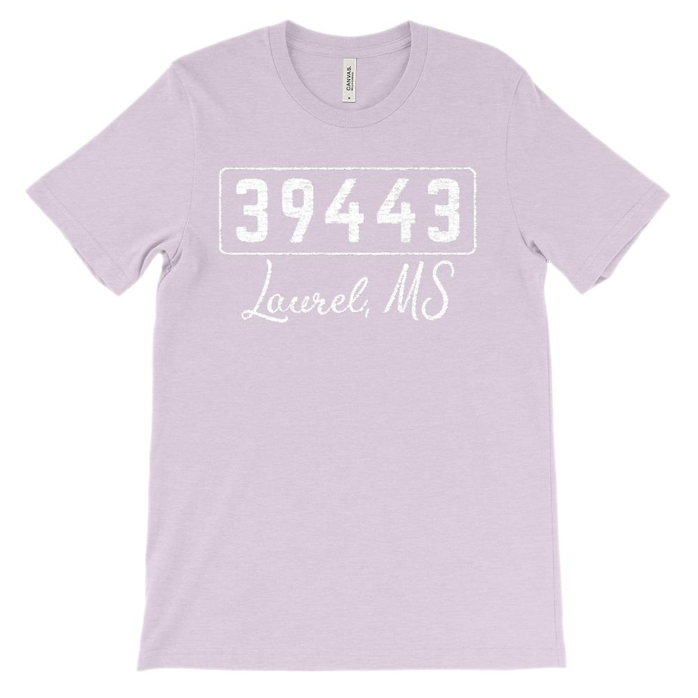 (Soft Unisex BC 3001) Custom Zipcode (39443, Laurel, MS) Graphic T-Shirt Tee BOXELS