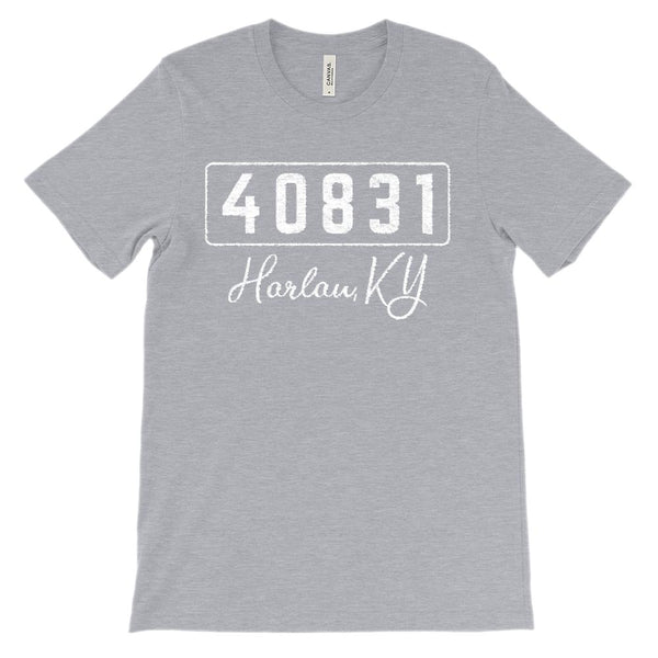 (Soft Unisex BC 3001) Custom Zipcode (40831, Harlan, KY) Graphic T-Shirt Tee BOXELS
