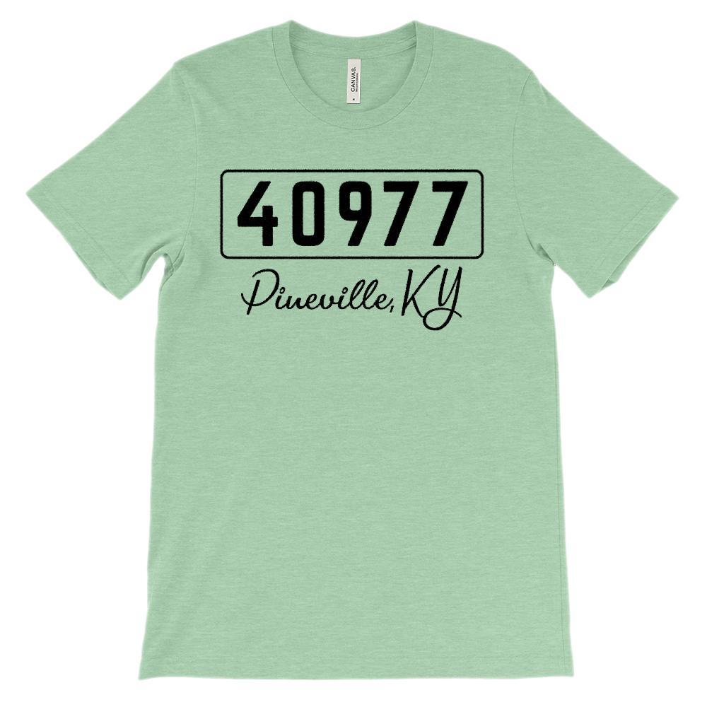 (Soft Unisex BC 3001) Custom Zipcode (40977, Pineville, KY) Graphic T-Shirt Tee BOXELS