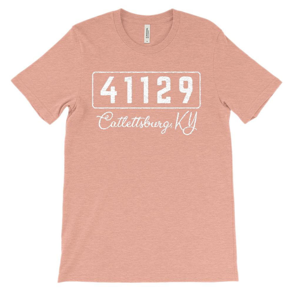 (Soft Unisex BC 3001) Custom Zipcode (41129, Catlettsburg, KY) Graphic T-Shirt Tee BOXELS
