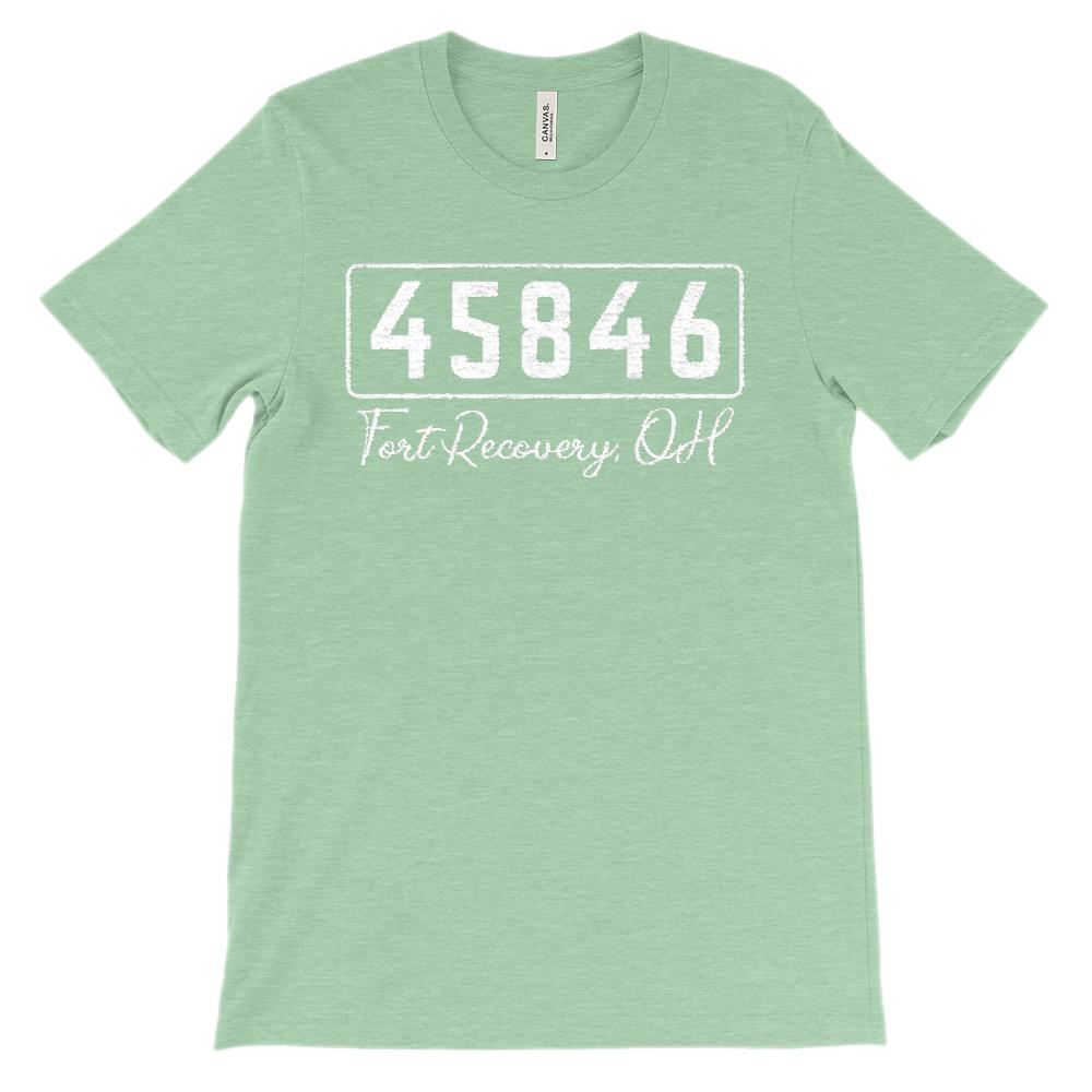 (Soft Unisex BC 3001) Custom Zipcode (45846, Fort Recovery, OH) Graphic T-Shirt Tee BOXELS