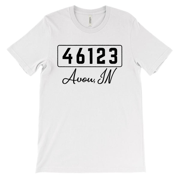 (Soft Unisex BC 3001) Custom Zipcode (46123, Avon, IN) Graphic T-Shirt Tee BOXELS