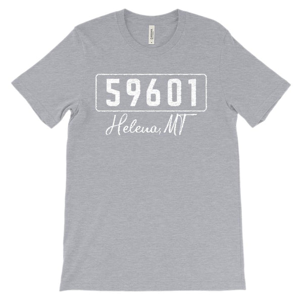 (Soft Unisex BC 3001) Custom Zipcode (59601, Helena, MT) Graphic T-Shirt Tee BOXELS