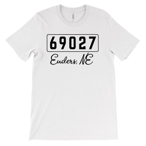 (Soft Unisex BC 3001) Custom Zipcode (69027 Enders, NE) Graphic T-Shirt Tee BOXELS