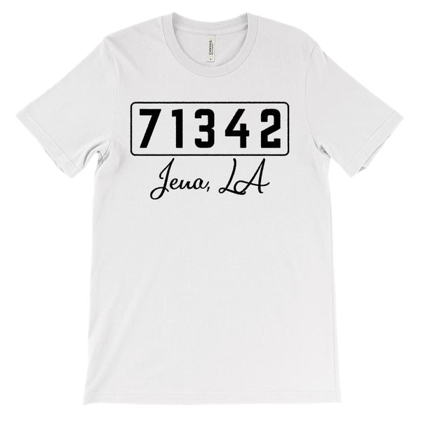 (Soft Unisex BC 3001) Custom Zipcode (71342, Jena, LA) Graphic T-Shirt Tee BOXELS