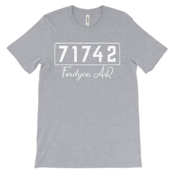 (Soft Unisex BC 3001) Custom Zipcode (71742, Fordyce, AR) Graphic T-Shirt Tee BOXELS