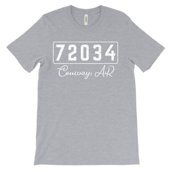 (Soft Unisex BC 3001) Custom Zipcode (72034, Conway, AR) Graphic T-Shirt Tee BOXELS