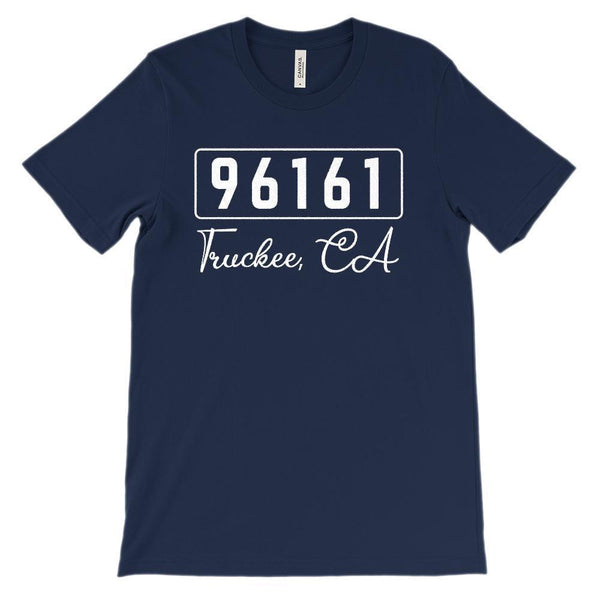(Soft Unisex BC 3001) Custom Zipcode (96161 Truckee, CA) Graphic T-Shirt Tee BOXELS