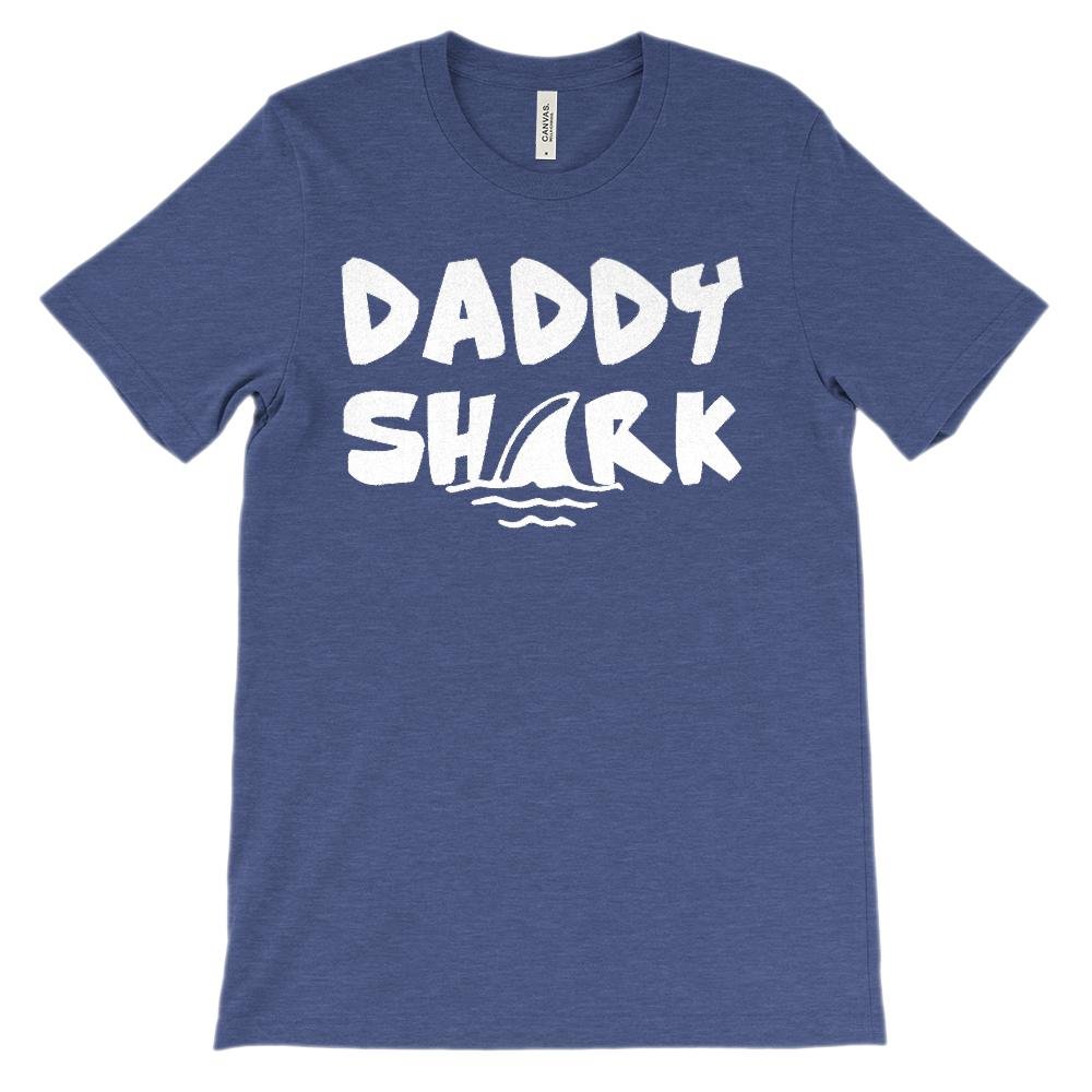 (Soft Unisex BC 3001) Daddy Shark Graphic T-Shirt Tee BOXELS