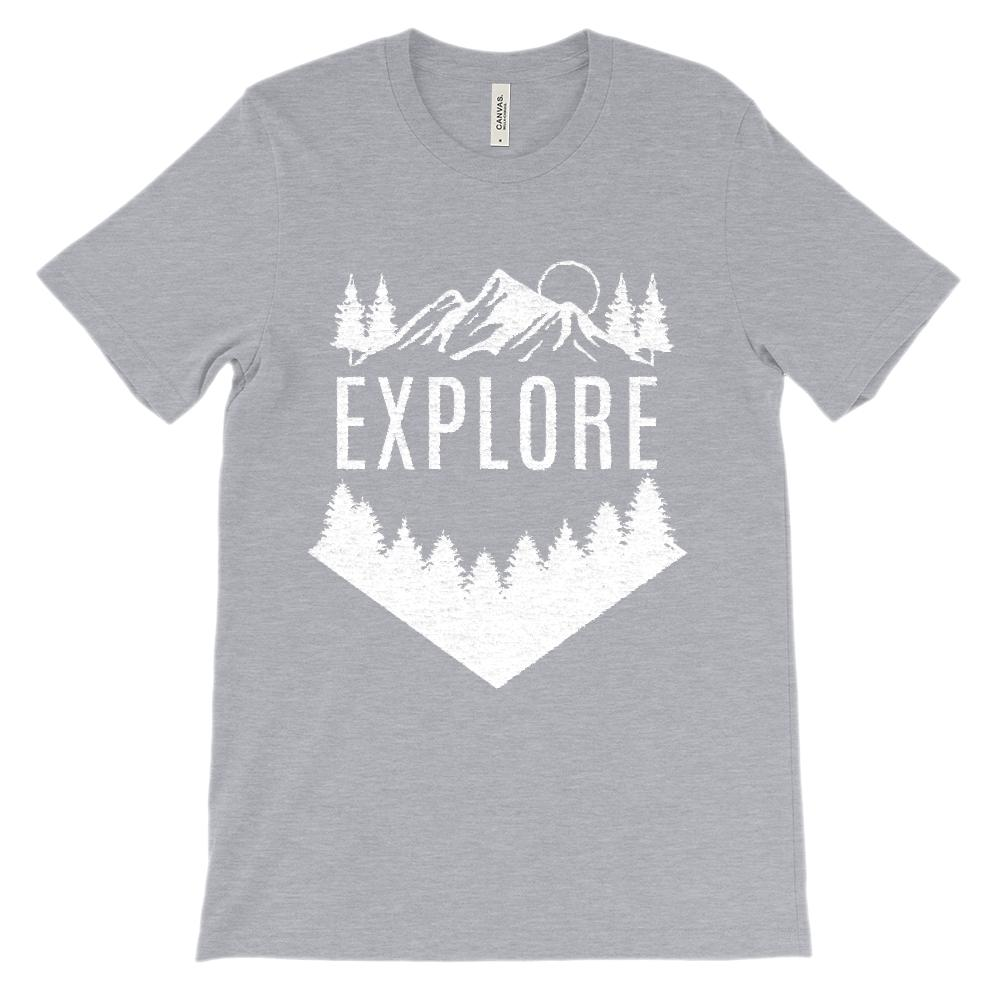 (Soft Unisex BC 3001 - Dark Colors) Get Outside Explore
