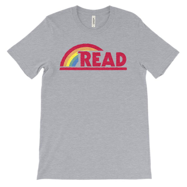 (Soft Unisex BC 3001 - Dark Colors) Reading Rainbow Teacher Read-a-holic Graphic T-Shirt Tee BOXELS