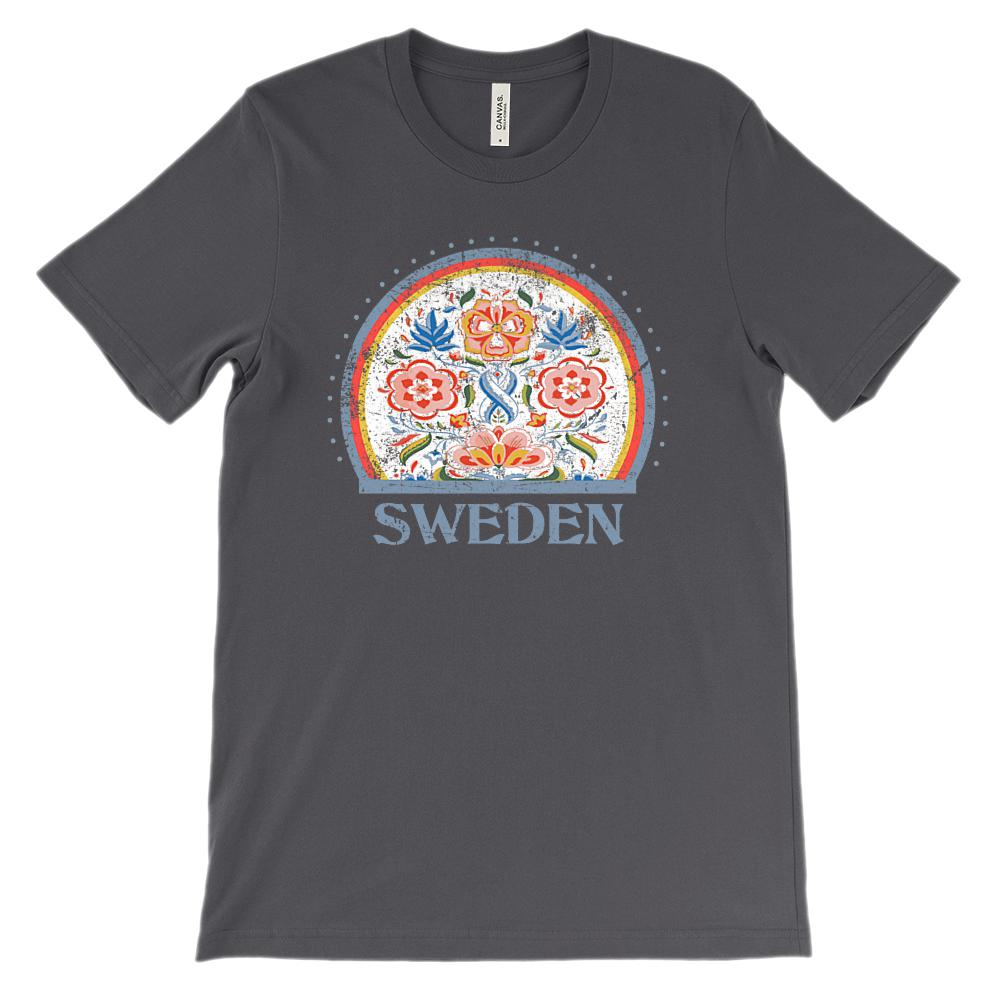 (Soft Unisex BC 3001 - Dark Colors) Sweden Graphic T-Shirt Tee BOXELS