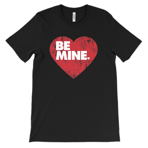 (Soft Unisex BC 3001 - Darks) BE MINE Valentine Heart Graphic T-Shirt Tee BOXELS