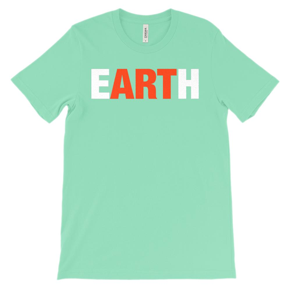 (Soft Unisex BC 3001 Darks) Earth Art Graphic T-Shirt Tee BOXELS