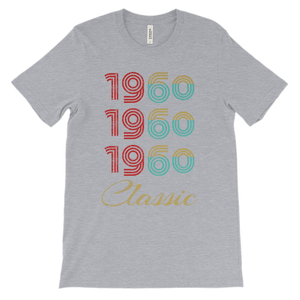 (Soft Unisex BC 3001 Darks) Made in the Year 1960 3 Yr Classic Graphic T-Shirt Tee BOXELS