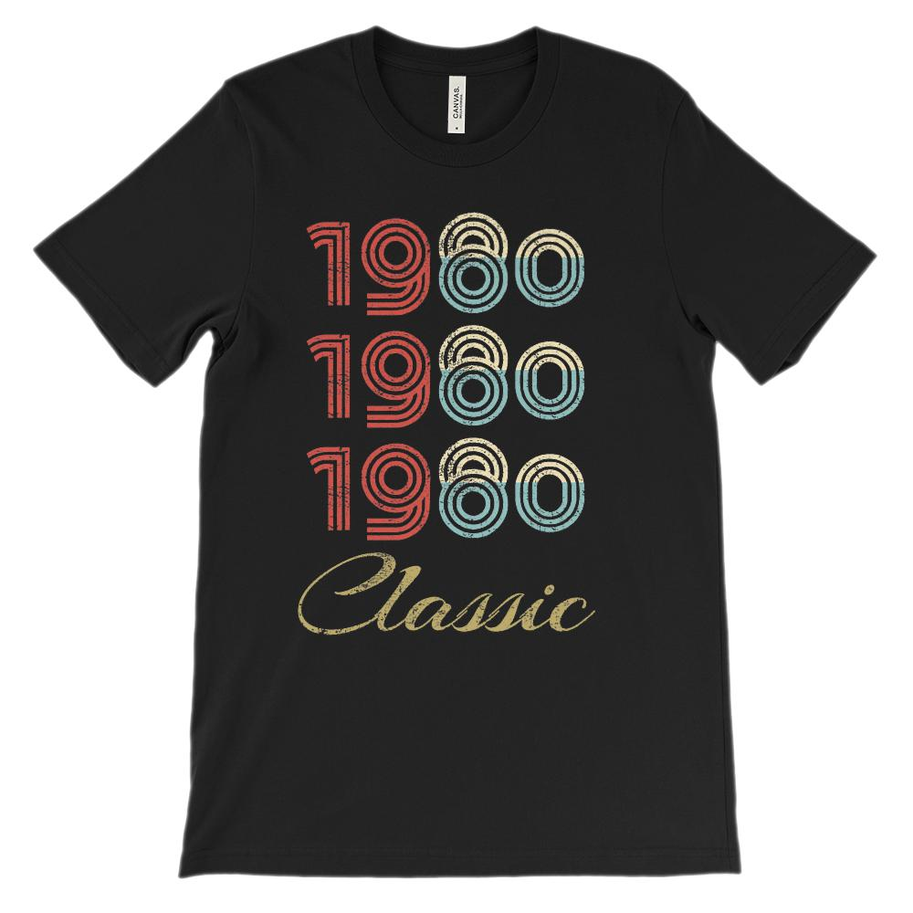 (Soft Unisex BC 3001 Darks) Made in the Year 1980 3 Yr Classic