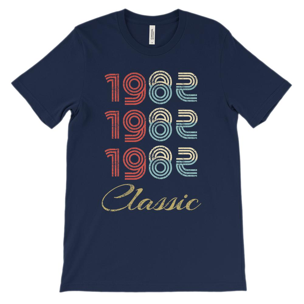 (Soft Unisex BC 3001 Darks) Made in the Year 1982 3 Yr Classic Graphic T-Shirt Tee BOXELS