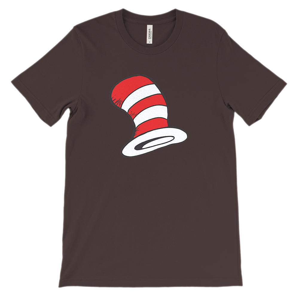 (Soft Unisex BC 3001 Darks) Red & White Hat Graphic T-Shirt Tee BOXELS