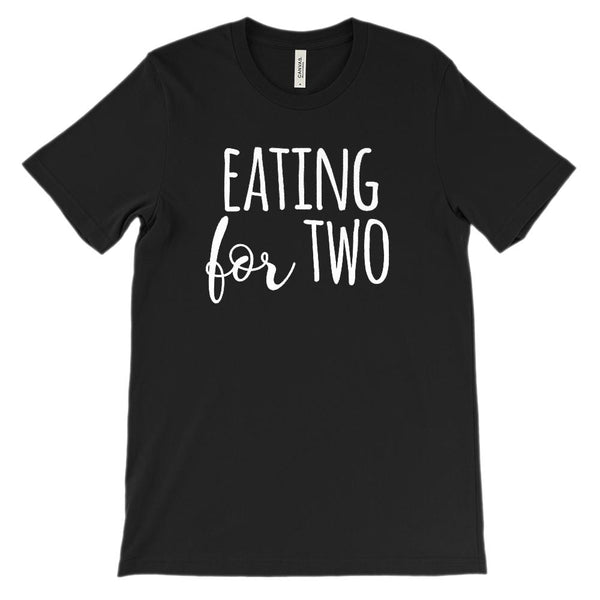 (Soft Unisex BC 3001) Eating for Two Graphic T-Shirt Tee BOXELS