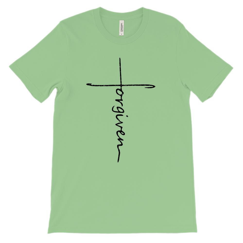 (Soft Unisex BC 3001) Forgiven Cross Graphic T-Shirt Tee BOXELS