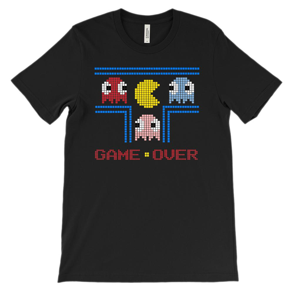 (Soft Unisex BC 3001) Game Over Pixel 80s Throwback Nostalgia