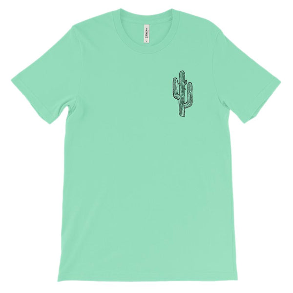 (Soft Unisex BC 3001 - Greens) Cactus in the Corner Graphic T-Shirt Tee BOXELS