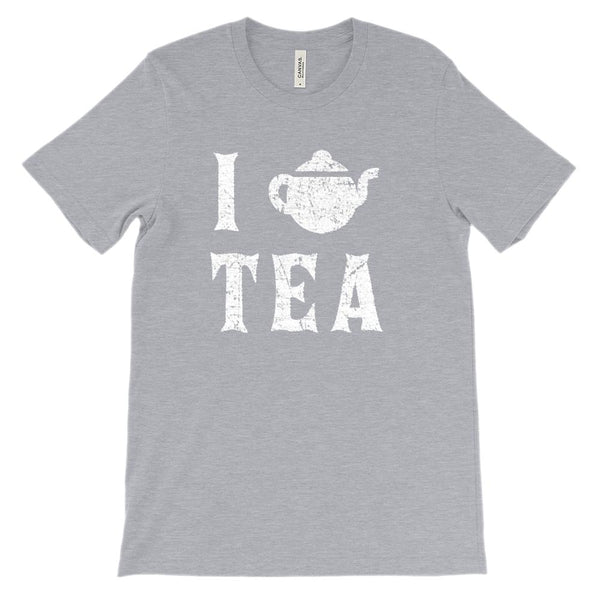 (Soft Unisex BC 3001) I Love Tea (white) Graphic T-Shirt Tee BOXELS