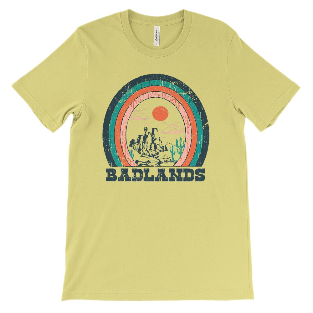(Soft Unisex BC 3001) Iconic World Destinations (Badlands) Graphic T-Shirt Tee BOXELS