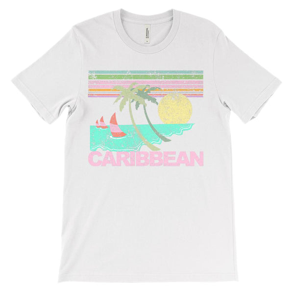 (Soft Unisex BC 3001) Iconic World Destinations (Caribbean) Graphic T-Shirt Tee BOXELS