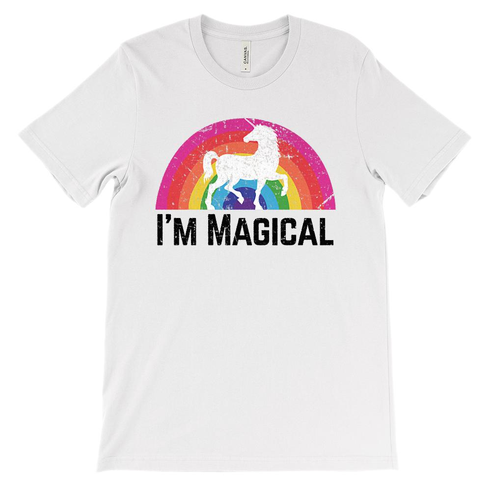 (Soft Unisex BC 3001) I'm Magical Unicorn Grunge Rainbow