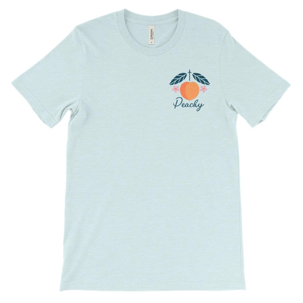 (Soft Unisex BC 3001) Just Peachy Corner Graphic T-Shirt Tee BOXELS