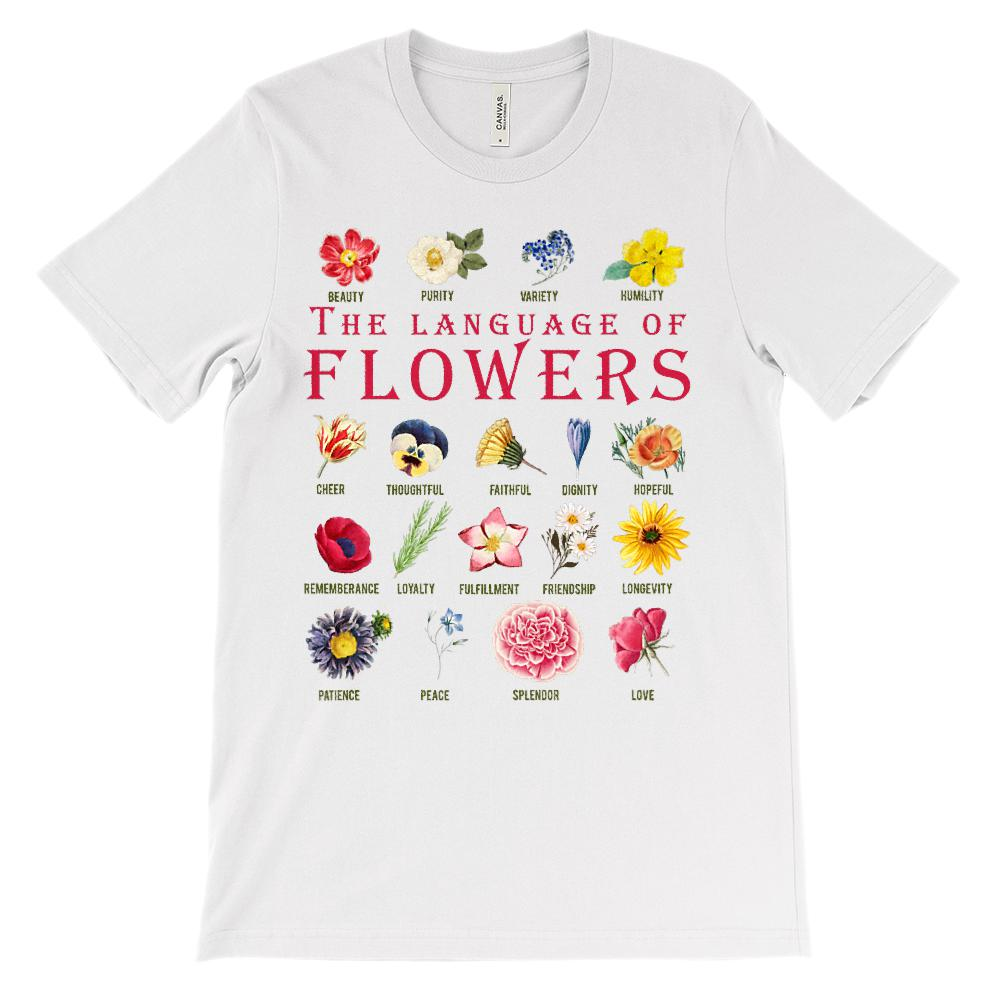 (Soft Unisex BC 3001) Language of Flowers