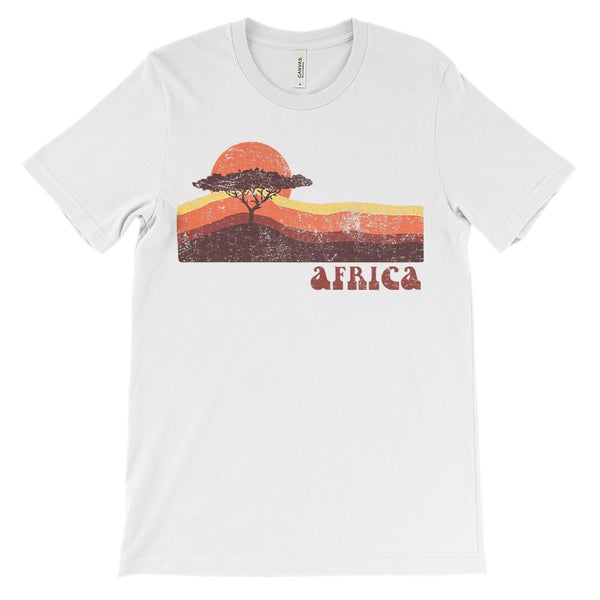 (Soft Unisex BC 3001 - Light Colors) Africa Sunset Graphic T-Shirt Tee BOXELS