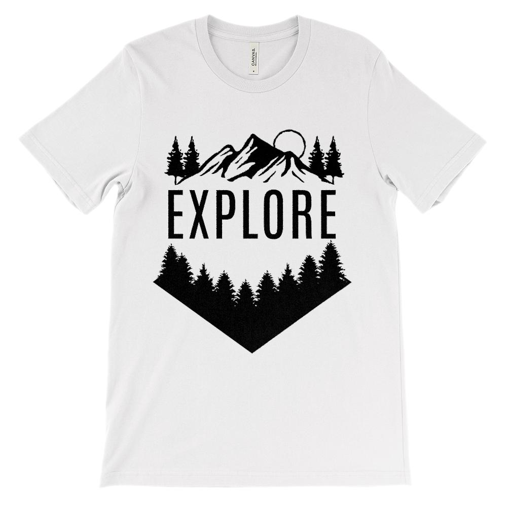 (Soft Unisex BC 3001 - Light Colors) Get Outside Explore