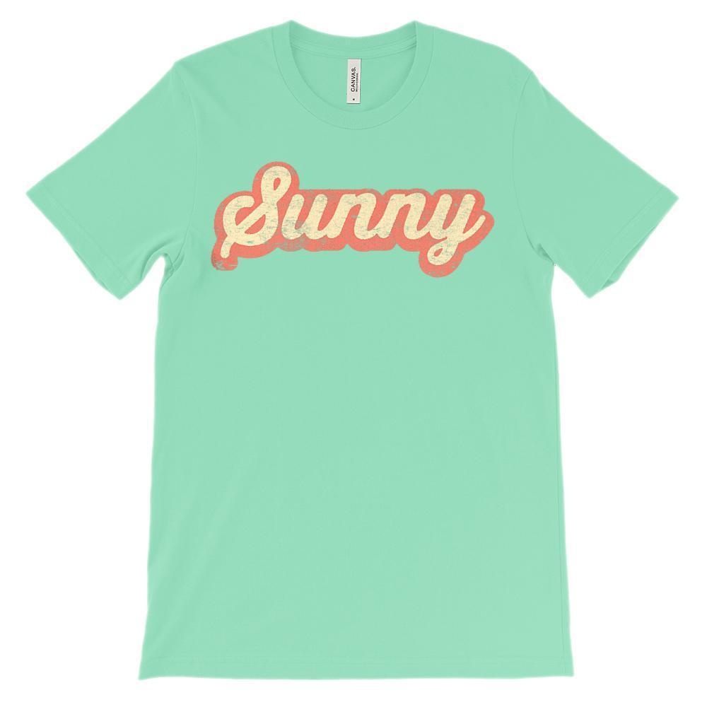 (Soft Unisex BC 3001 - Light Colors) Get Outside Sunny Retro Grunge Graphic T-Shirt Tee BOXELS