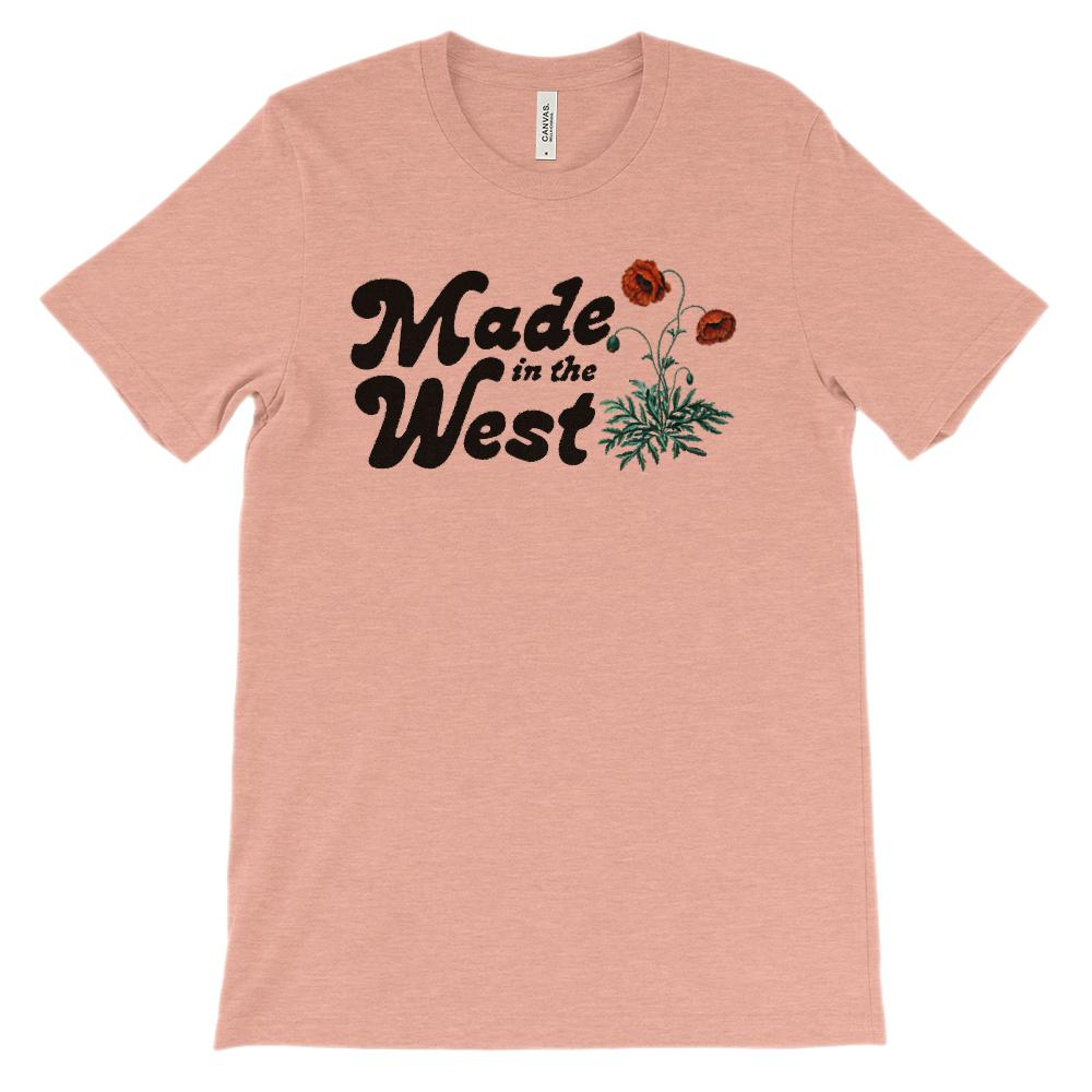 (Soft Unisex BC 3001 - Light Colors) Made in the West Floral Graphic T-Shirt Tee BOXELS