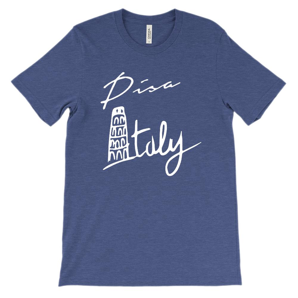 (Soft Unisex BC 3001 - Light Colors) Pisa Italy Tower Graphic T-Shirt Tee BOXELS