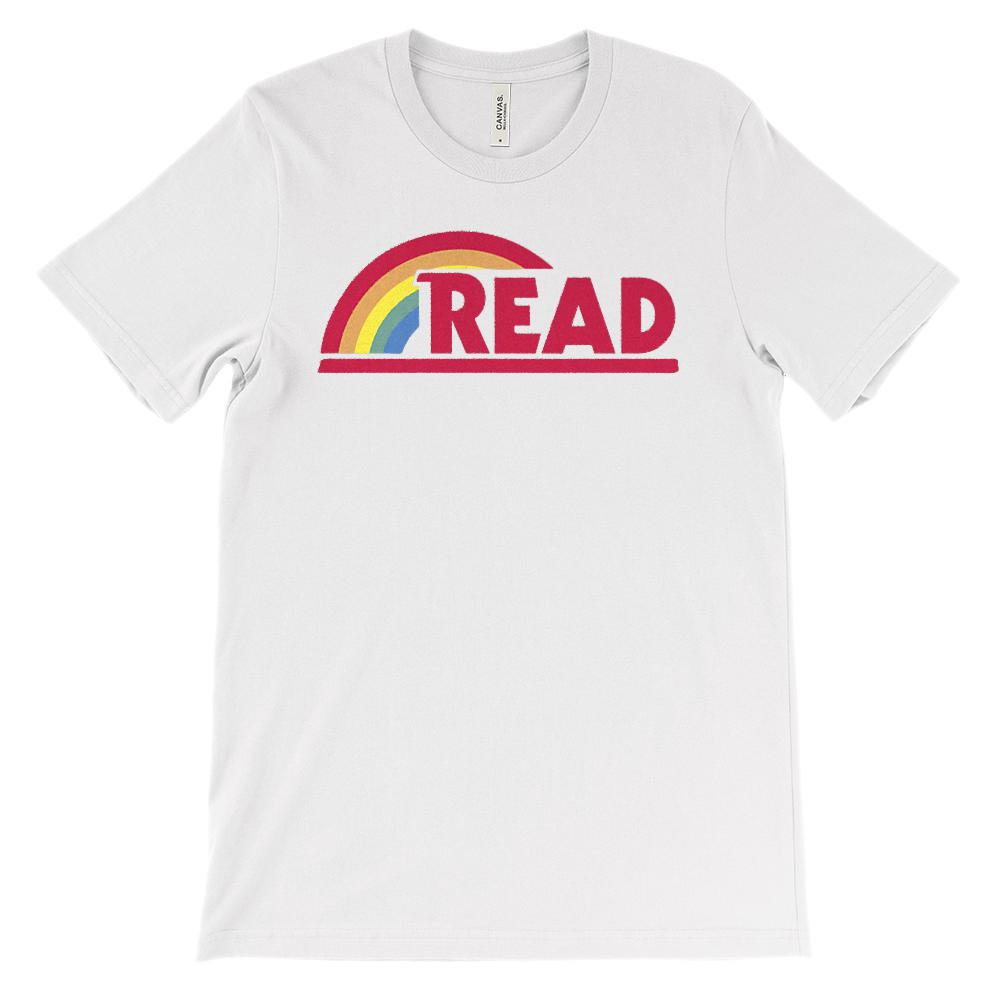 (Soft Unisex BC 3001 - Light Colors) Reading Rainbow Teacher Read-a-holic Graphic T-Shirt Tee BOXELS