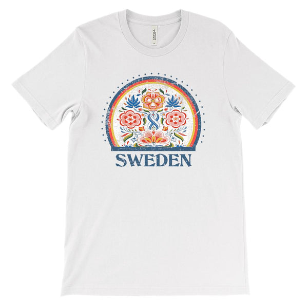 (Soft Unisex BC 3001 - Light Colors) Sweden Graphic T-Shirt Tee BOXELS