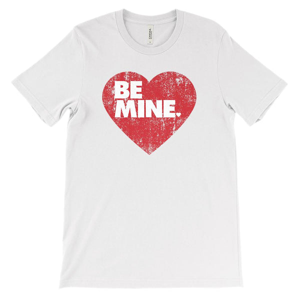(Soft Unisex BC 3001 - Lights) BE MINE Valentine Heart Graphic T-Shirt Tee BOXELS