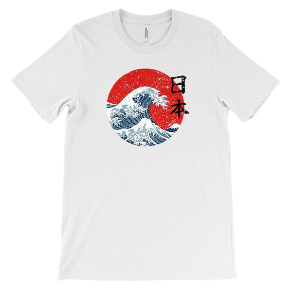 (Soft Unisex BC 3001 - Lights) Iconic World Destinations (Japanese Wave) Graphic T-Shirt Tee BOXELS