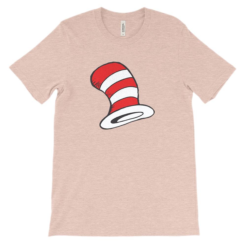 (Soft Unisex BC 3001 Lights) Red & White Hat Graphic T-Shirt Tee BOXELS