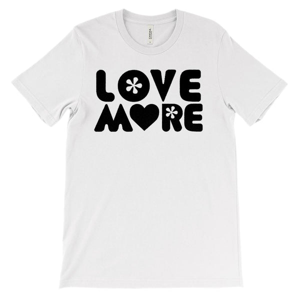 (Soft Unisex BC 3001) Love More Graphic T-Shirt Tee BOXELS