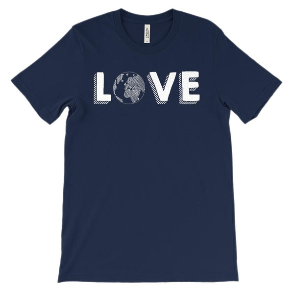 (Soft Unisex BC 3001) Love the Earth Graphic T-Shirt Tee BOXELS