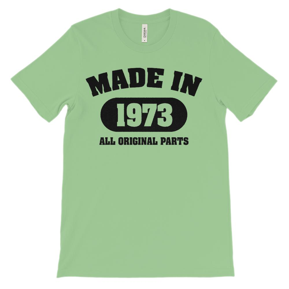 (Soft Unisex BC 3001) Made in 1973 All Original Parts Graphic T-Shirt Tee BOXELS