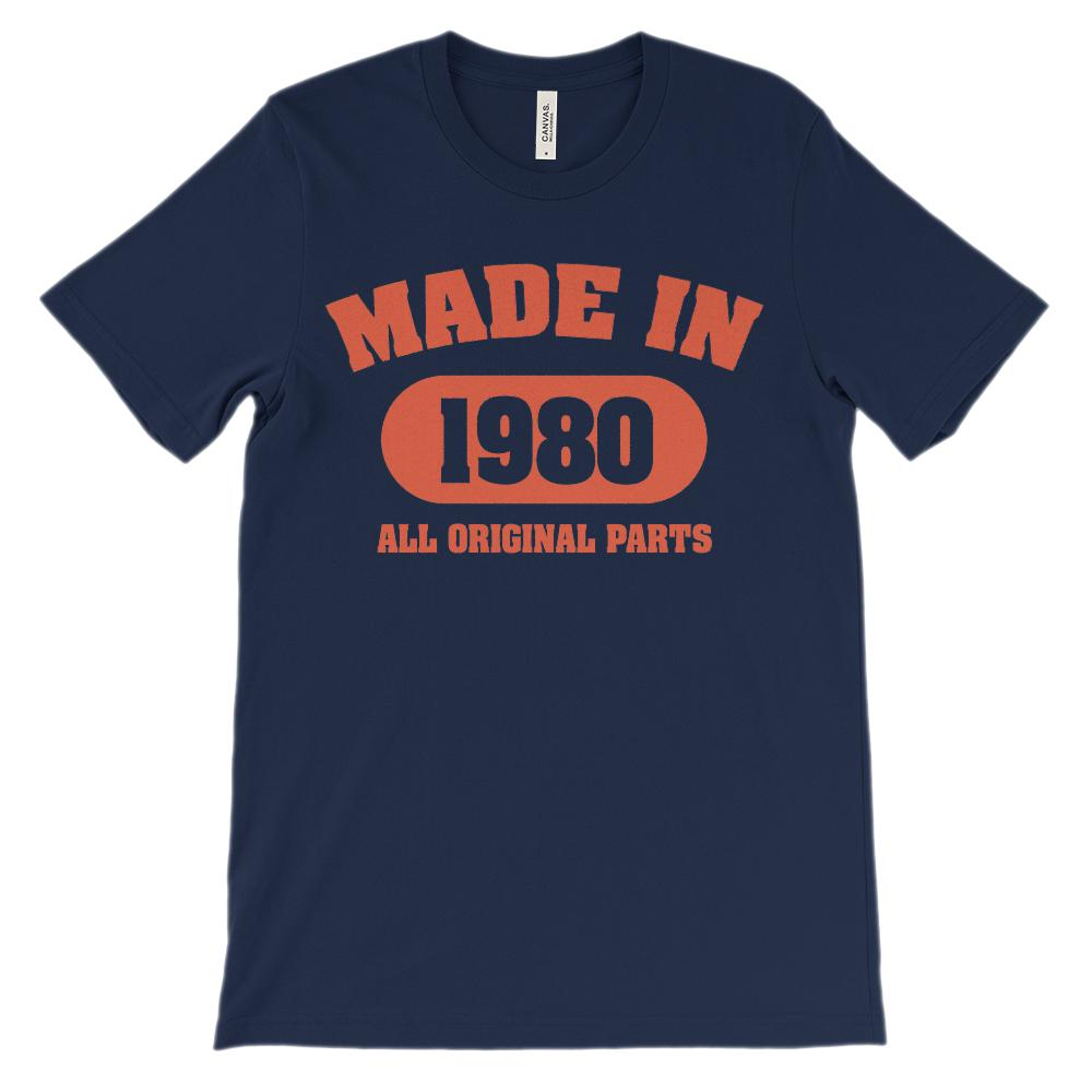 (Soft Unisex BC 3001) Made in 1980 All Original Parts (red) Graphic T-Shirt Tee BOXELS