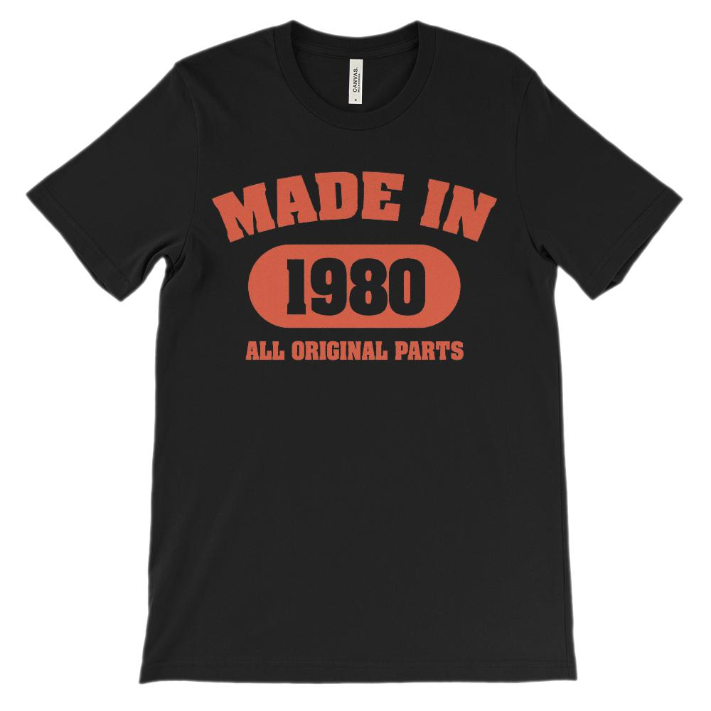 (Soft Unisex BC 3001) Made in 1980 All Original Parts (red)