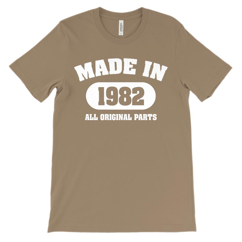 (Soft Unisex BC 3001) Made in 1982 All Original Parts (white) Graphic T-Shirt Tee BOXELS
