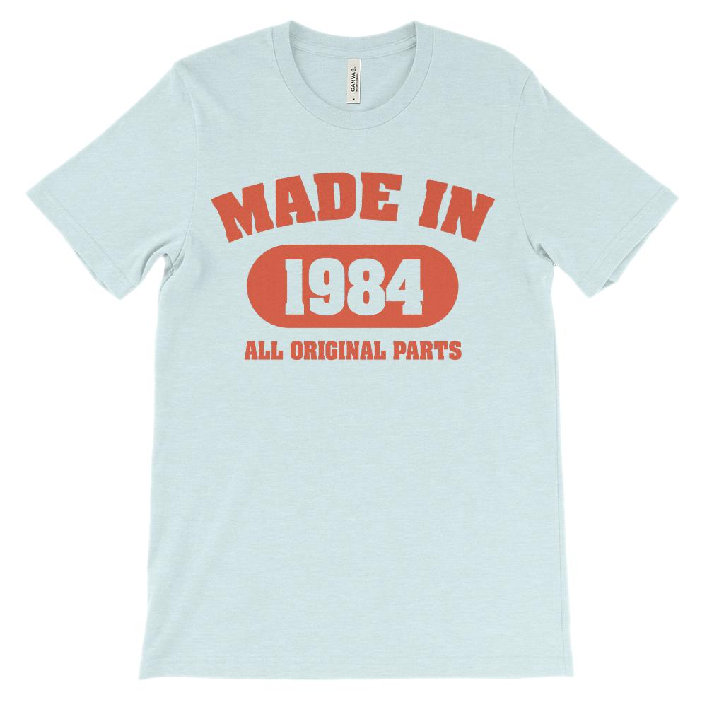 (Soft Unisex BC 3001) Made in 1984 All Original Parts (red) Graphic T-Shirt Tee BOXELS
