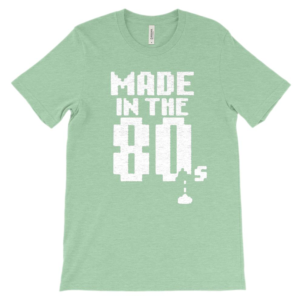 (Soft Unisex BC 3001) Made in the 80s Space Shooter Game Graphic T-Shirt Tee BOXELS